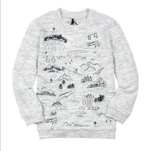 Deux par Deux Boys Mountains Forest Sweatshirt 4